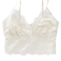 Aerie Women's Lace Long Line Bralette