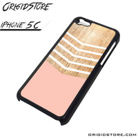 Chevron Pink Wood Wave Case For Iphone 5C Case