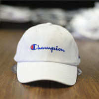 Champion Women Men Hip Hop Embroidery Sunhat Baseball Cap Hat