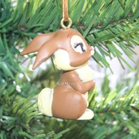 Licensed cool Custom Bambi MISS BUNNY Rabbit Ornament PVC Disney Holiday Christmas NEW