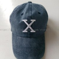 Malcolm X Hat BHM Dad Cap 90s X Logo (BY ANY MEANS NECESSARY) Vtg Retro