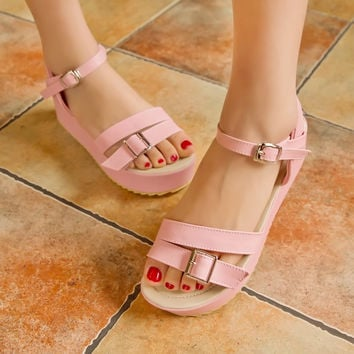 Ankle-Straps-Wedges-Sandals-Women-Pumps-Platform-Shoes 7409