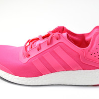 Adidas Women's Pure-Boost Solar Pink/White Running Shoes B41117