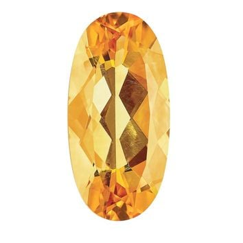 Loose Citrine Gemstone  10x8mm Oval AA Quality
