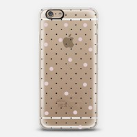 Pin Point Polka Dot Pink Transparent iPhone 6 case by Project M | Casetify