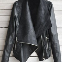 SADE' LEATHER SUEDE JACKET