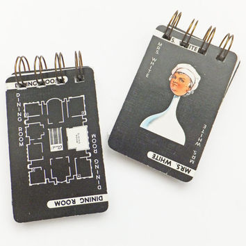 Cluedo notebooks, spiral bound journals, stocking fillers, small notebooks, jotters, monochrome notebooks, pocket notebooks