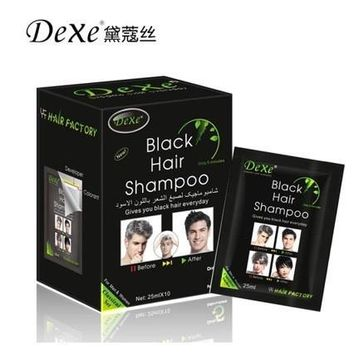 2 sets of Fast black hair shampoo Only 5 minutes white become black hair color 10 pcs/lot hair dye permanent for men and women