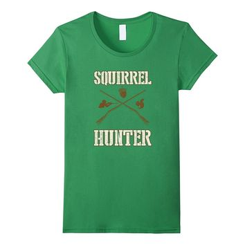 Squirrel Hunter Gun Rifle Shotgun Acorn Shirt