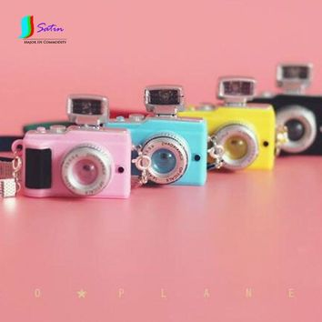 Retro Mini Camera Small Cloth Blythe BJD346 Points Giant Baby SD / DD Doll With Photo Props Mmio Black Blue Pink Yellow S595P