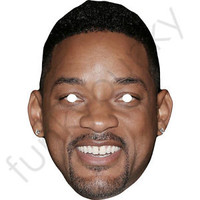 Will Smith American Actor Singer Celebrity Card Mask - All Our Masks Are Pre-Cut