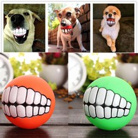 Funny Ball Teeth Silicon Toy Chew Dog Toy