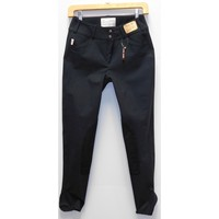 TS 1967 Charcoal w/Black Knee Patch Low Rise Front Zip Breech