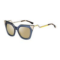 Iridia Flash Sunglasses with Mirror Lens, Blue - Fendi