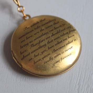 Personalized locket, inscription locket, gold. Can be personalized inside