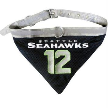 qiyif Seattle Seahawks '12th Man' Pet Collar Bandana