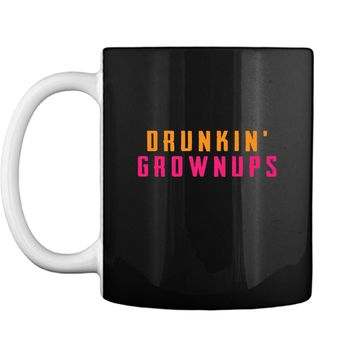 Graphic Colorful Drunkin Grownups party Drinking Gift Cool Tee Gift Mug