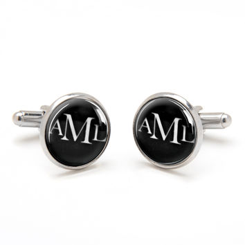 Monogrammed Cufflinks - Modern and Classic Style