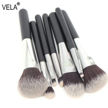 VELA  Makeup Brush Set Travel MINI 7pcs Makeup Tools Kit Good Quality Slim Beauty Set