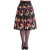 Wonderland Forest Kawaii Lolita Forest Animals & Flower Pleated Skirt