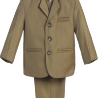 Olive Green Single Breasted Dress Suit 5 Piece (Boys 6 months - size 14)
