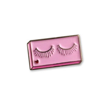 False Lashes Enamel Pin- Sara Lyons