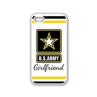 US Army Girlfriend Star iPhone 5 White Case - For iPhone 5/5G White - Designer TPU Case Verizon AT&T Sprint