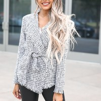 Lacey Belted Tweed Jacket