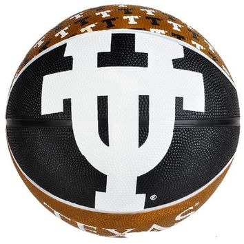 "9.5"" TEXAS LONGHORNS REGULATION BASKETBALL"