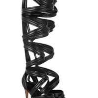Gianvito Rossi | Leather gladiator knee sandals | NET-A-PORTER.COM