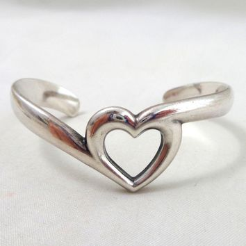 JAMES AVERY Sterling Silver Heart Cuff Bracelet