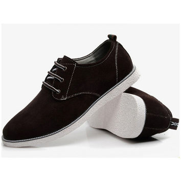 Crepe Sole Suede Oxford Shoes