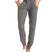 FRENCH TERRY DRAWSTRING SKINNY SWEATPANTS