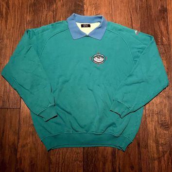 Vintage Vintage St. Michael Antarctica Base Camp Ten Below Zero Teal Sweater Mens Size L Large Size L $100