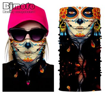 2018 Seamless Skull Skeleton Joker Clown Balaclava Tube Neck Face Mask Scarf Motorcycle Bicycle Hunting Outdoor Bandana Headband