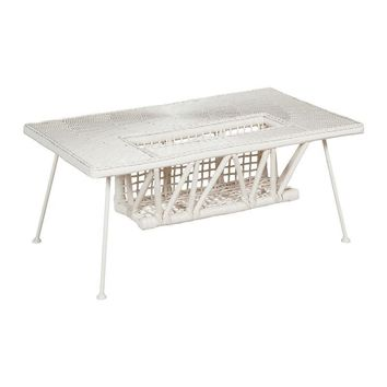 Patio Garden Cocktail Table White