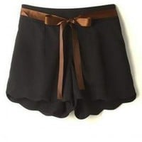 Sunday Brunch Scalloped Shorts in Noir | Sincerely Sweet Boutique