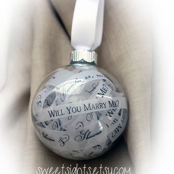 Will You Marry Me Ornament, Christmas Proposal, Marry Me Christmas ornament, Personalized Christmas Ornaments, Christmas Proposal Ornament