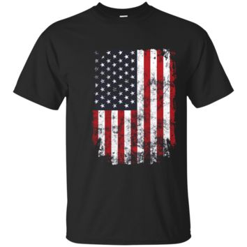 Cool Distressed American USA Flag Shirt 4th of July Clothing T Shirt