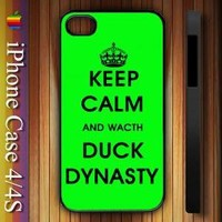 Keep Calm and Watch Duck Dynasty Apple iPhone 4/4S Case Durable Plastic