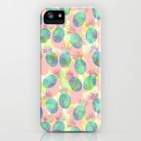 Pineapple Party iPhone & iPod Case by Schatzi Brown