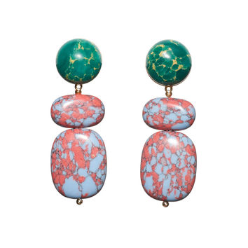 Lele Sadoughi Boulder Drop Earring - Sunset Blue - ShopBAZAAR