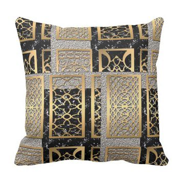 Modern African American Abstract Design Throw Pillow