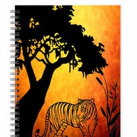 Tiger Notebook, Portable Sketchbook, Gifts For Guys, Teacher Gifts, Tiger Gifts, Cool Notebook, Plain Journal, Animal Journal, Mens Journals