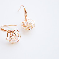 18K Rose Gold Plated Crystal earrings