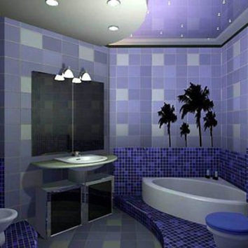 Palm Trees Bathroom Decor Wall Art Sticker Decal Ar83