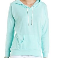 French Terry Pullover Hoodie by Charlotte Russe