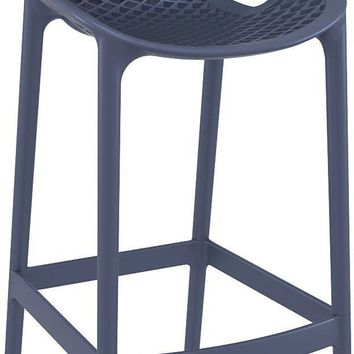 Air Bar Stool Dark Gray (Set of 2)