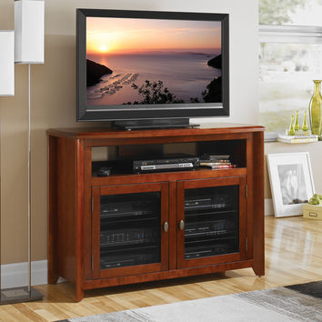 "50"" Highboy (36"" tall) No Tools Assembly TV Stand A/V Cabinet Walnut"