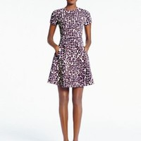 Kate Spade Autumn Leopard Flared Dress